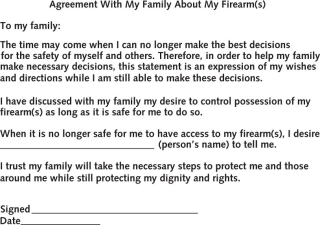 Firearm Agreement